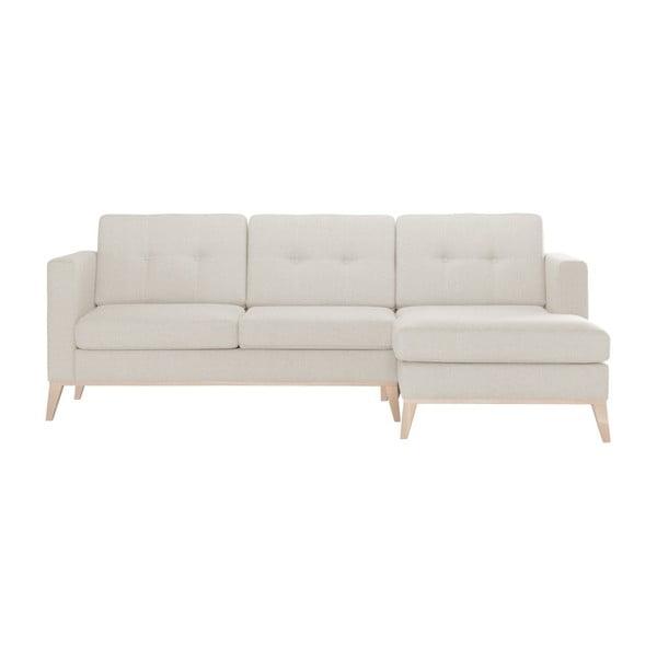 Recipe krémszínű kanapé, jobb oldali fekvőfotellel - Stella Cadente Maison