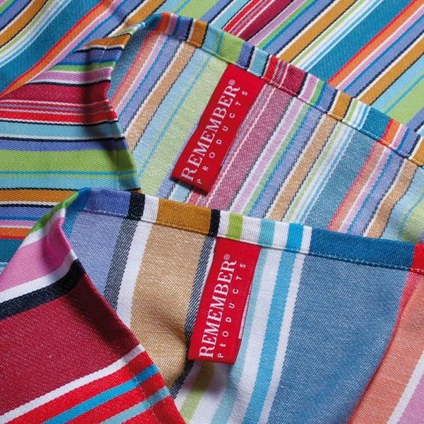 Purple Stripes kétrészes pamut konyharuha szett, 70 x 50 cm - Remember