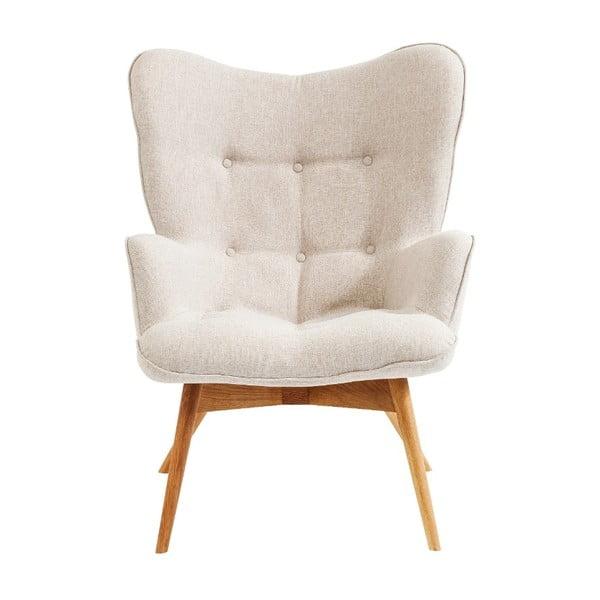 Vicky Ecru fehér fotel - Kare Design