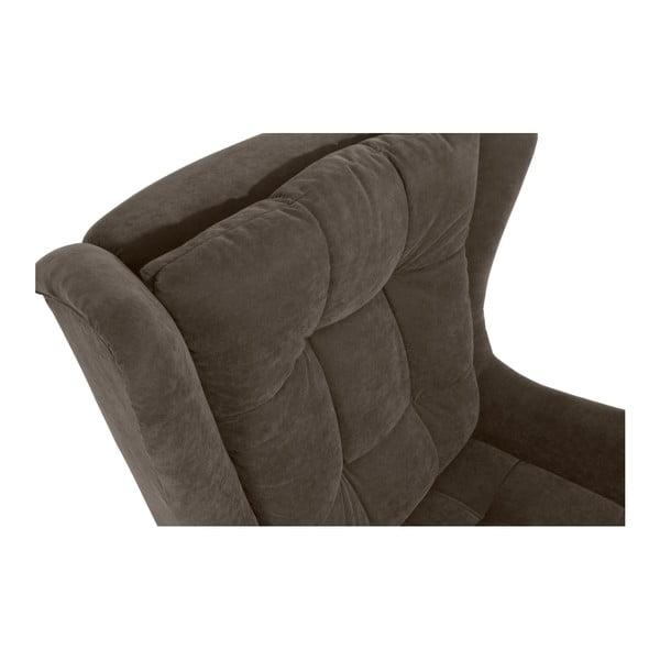 Merlon szürkés-barna füles fotel - Max Winzer