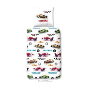 Formule1 egyszemélyes gyermek ágyneműhuzat pamutból, 140 x 200 cm - Good Morning