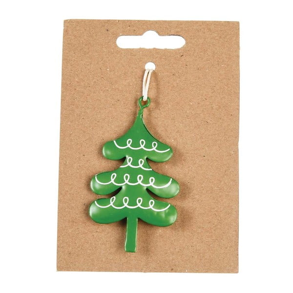 Tree kézzel festett, fém karácsonyfadísz - Rex London