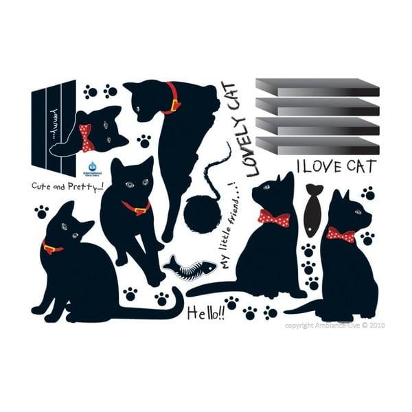 Cats with Bowties falmatrica szett - Ambiance