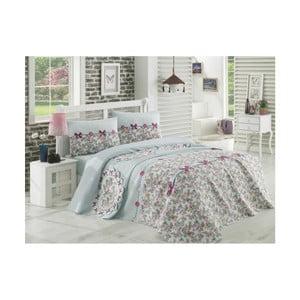 Bavlněný přehoz přes postel na jednolůžko Single Pique Gris, 160 x 235 cm