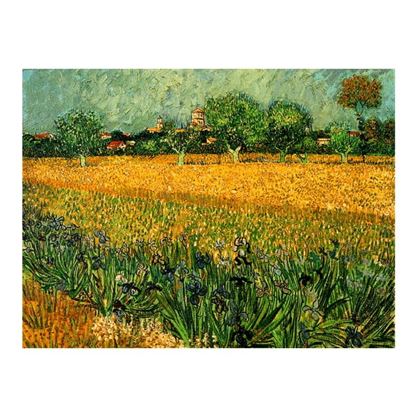 Vincent van Gogh - View of arles with irises in the foreground festményének másolata, 40 x 30 cm