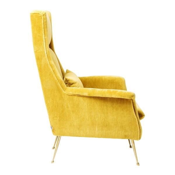 Vegas Forever sárga fotel - Kare Design