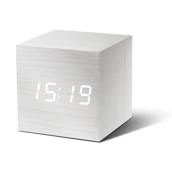Cube Click Clock fehér ébresztőóra LED kijelzővel - Gingko