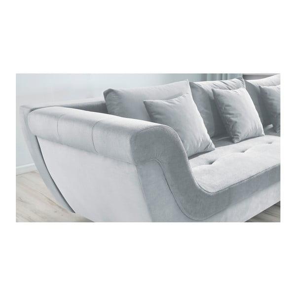 Real világosszürke kinyitható kanapé, jobb oldali kivitel - Bobochic Paris