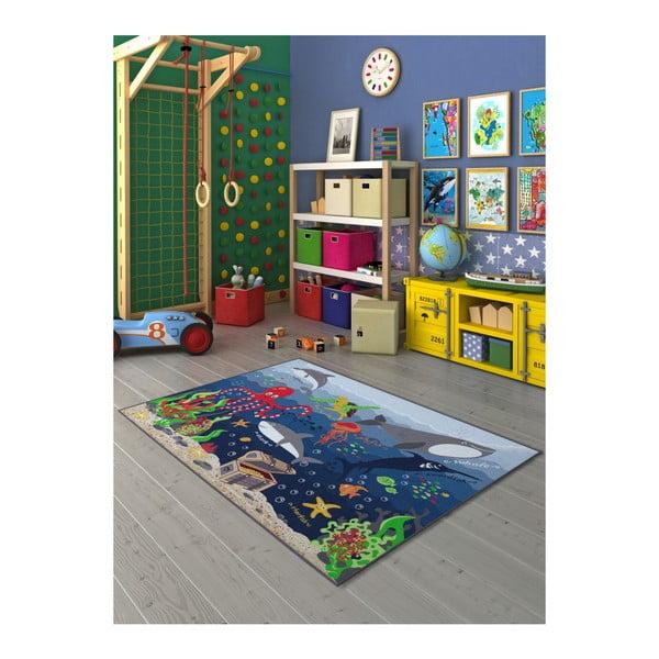 Gyermekszőnyeg a tenger alatti világ mintájával, 200 x 290 cm - Unknown