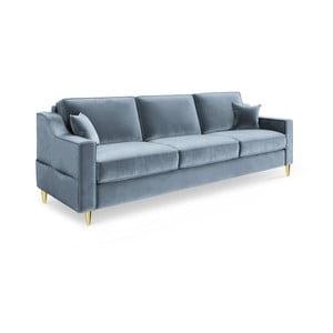 Marigold világoskék háromszemélyes kinyitható kanapé - Mazzini Sofas