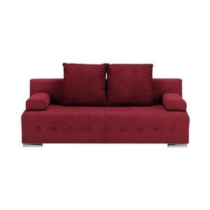 Tmavě červená třímístná rozkládací pohovka s úložným prostorem Melart Suzanne