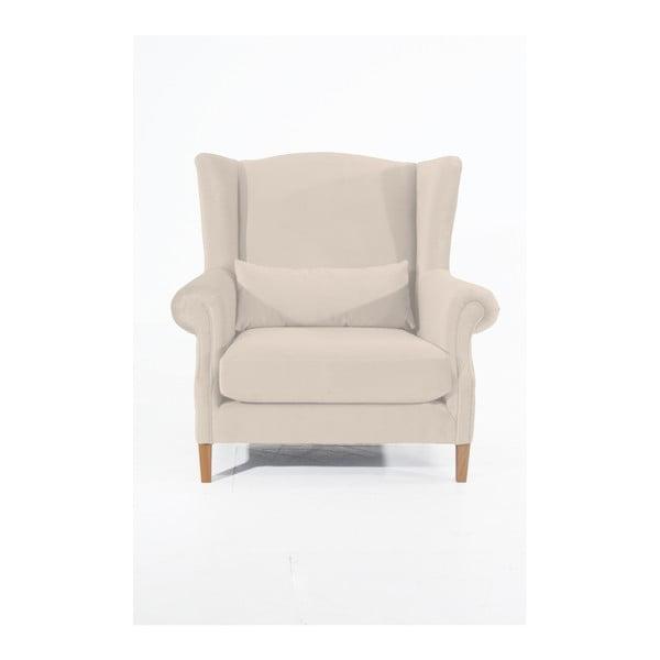 Harvey Velvet krémszínű füles fotel - Max Winzer