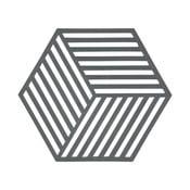 Hexagon szürke edényalátét - Zone