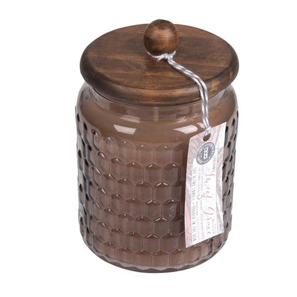 Sweet Grace illatos gyertya üveg tartóban fa fedéllel, égési idő 110 óra - Creative Tops