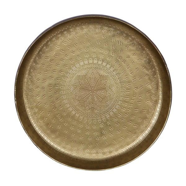 Waitress dekorációs tálca sárgaréz részletekkel, Ø 30 cm - BePureHome