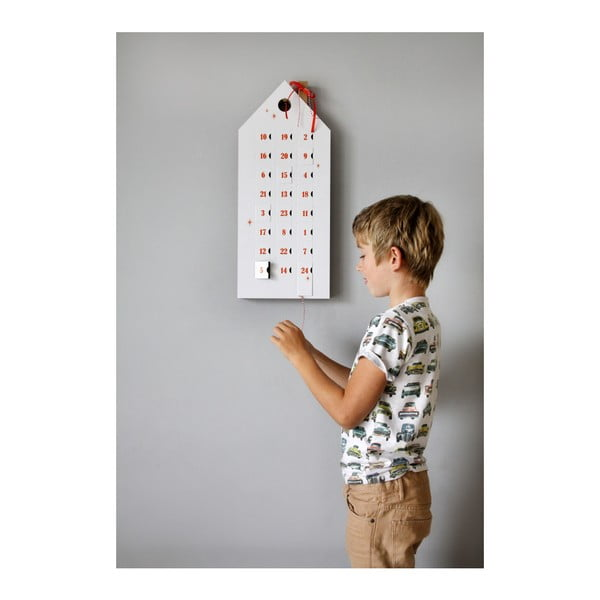 Adventi naptár piros számokkal - Unlimited Design for kids