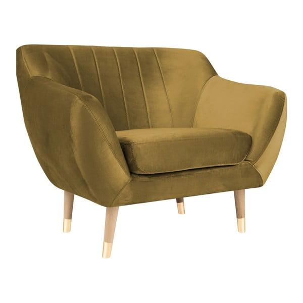 Benito aranyszínű fotel - Mazzini Sofas