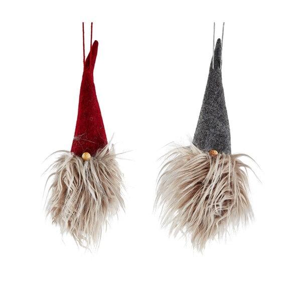 Christmasy fellógatható karácsonyi dísz, 2 darabos készlet - KJ Collection
