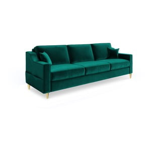 Marigold zöld háromszemélyes kinyitható kanapé - Mazzini Sofas