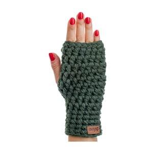 Dina olivazöld kézzel horgolt kézmelegítő - DOKE