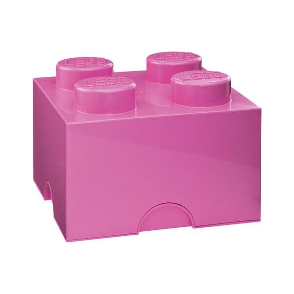 Rózsaszín négyszögletes tárolódoboz - LEGO®