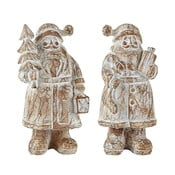 Santa Claus 2 darabos dekoráció, 13,5 cm - KJ Collection