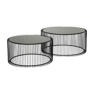 Wire Big fekete tárolóasztal, 2 db - Kare Design