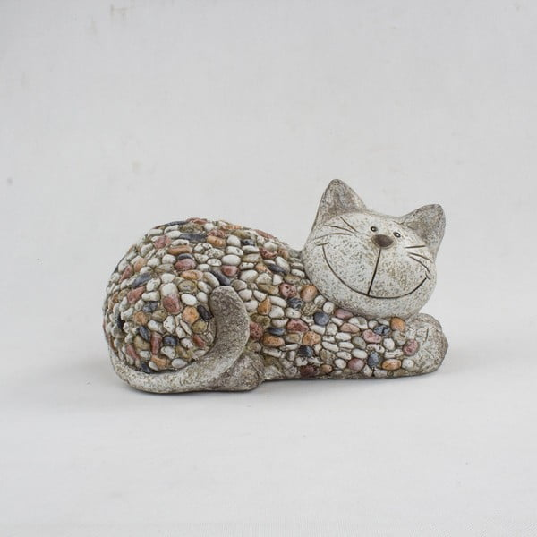 Garden Deco Cat With Stones kerti dekoráció, magasság 18 cm - Dakls