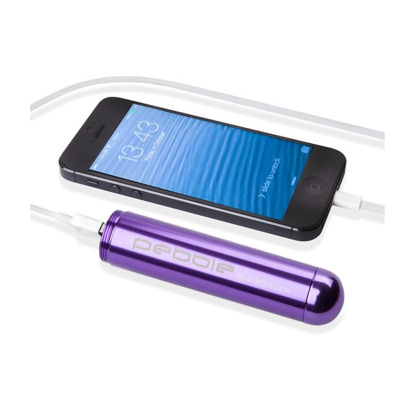 Smartstick VPP-004 lila powerbank - Pebble