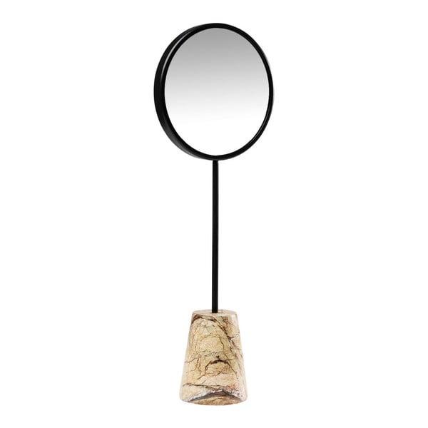 Bung asztali tükör márvány talapzattal, Ø 20 cm - Kare Design