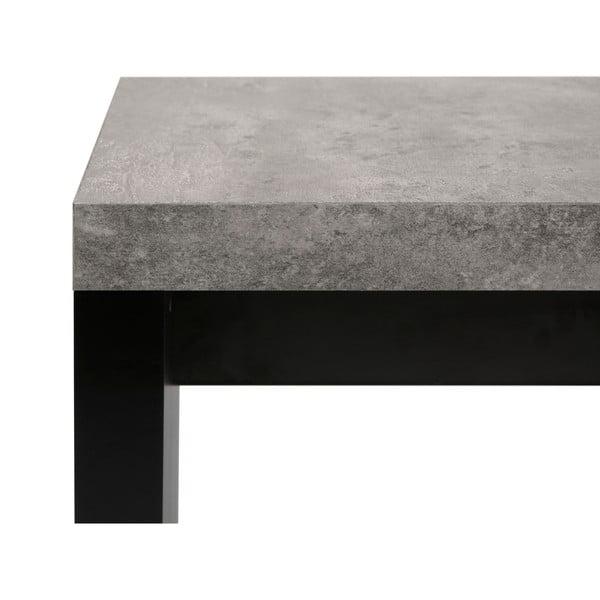Detroit fekete-szürke pad beton dekorral, 140 x 43 cm - TemaHome