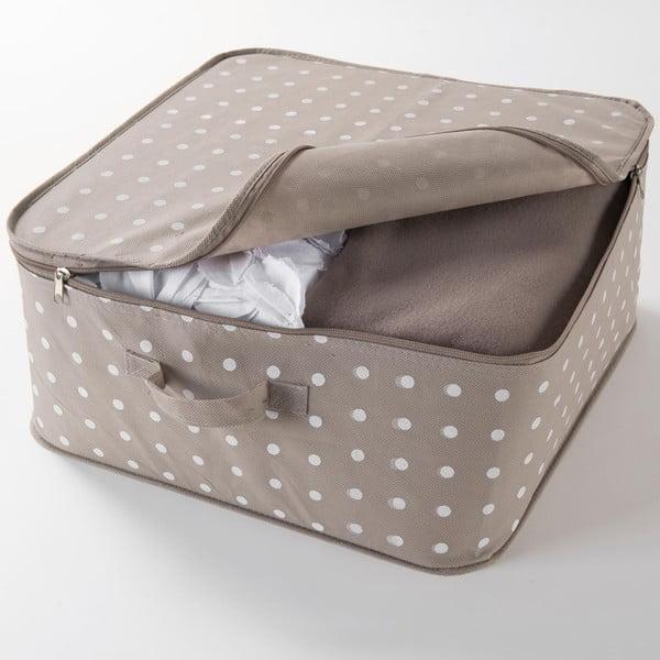 Dots bézs ruhatároló doboz, 46 x 20,5 cm - Compactor