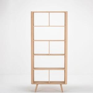 Ena tölgyfa könyvespolc, 90 x 35 x 200 cm – Gazzda