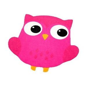 Owl fukszia rózsaszín gyerekszőnyeg, 66 x 66 cm - Zala Living