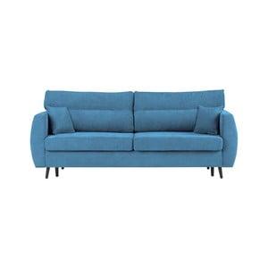Brisbane háromszemélyes kék kinyitható kanapé tárolóval, 231 x 98 x 95 cm - Cosmopolitan design