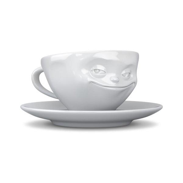 Fehér mosolygós kávés csésze, 200 ml - 58products