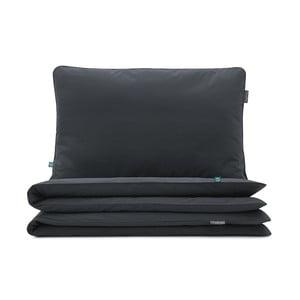 Fekete pamut egyszemélyes ágyneműhuzat, 140x200cm - Mumla