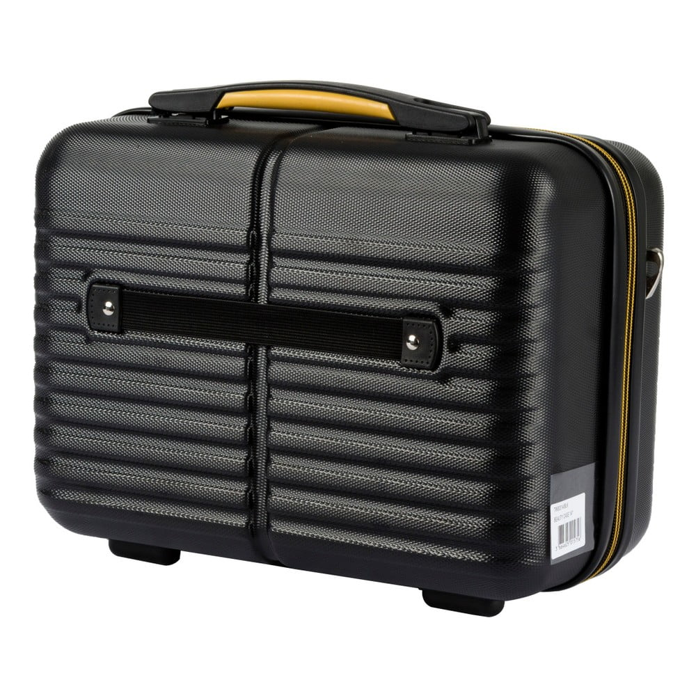 ... Fekete kozmetikai táska és gurulós bőrönd szett - Travel World ... 078675d606