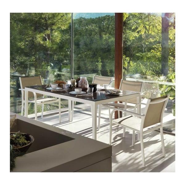Kiho fehér kerti székkészlet zöld ülőkével, 2 részes - Geese
