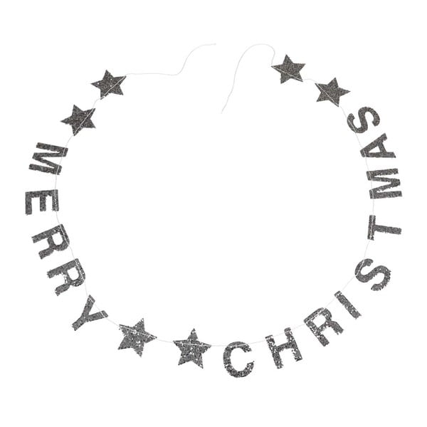 Silver Stars karácsonyi girland felirattal - Rex London