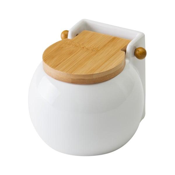 Ceramic fehér fedeles sótartó, 700 ml - Unimasa