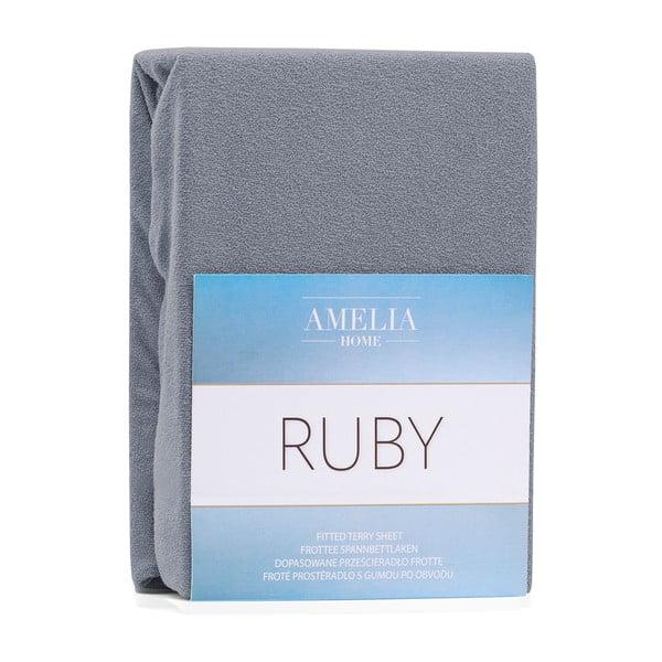 Ruby sötétszürke gumis lepedő, 200 x 160-180 cm - AmeliaHome