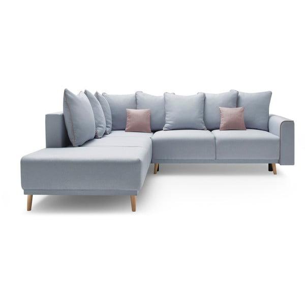 Mola L pasztellkék kinyitható kanapé, bal oldali kivitel - Bobochic Paris