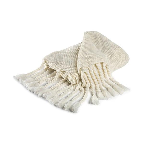 Vancouver fehér pamutkeverék takaró, 130 x 170 cm - Damai