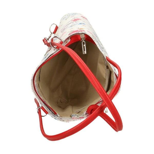 Paraya bőr válltáska, piros részletekkel - Chicca Borse