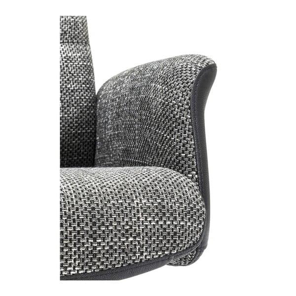 Ohio szürke forgó füles fotel, lábtartóval - Kare Design
