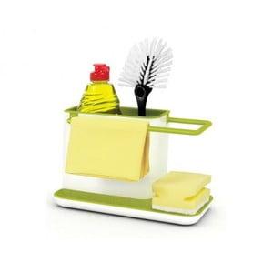 Caddy Sink Tidy zöld-fehér konyhai állvány mosogató eszközökhöz - Joseph Joseph