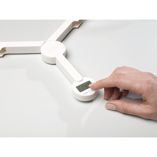 TriScale fehér összecsukható digitális konyhai mérleg - Joseph Joseph