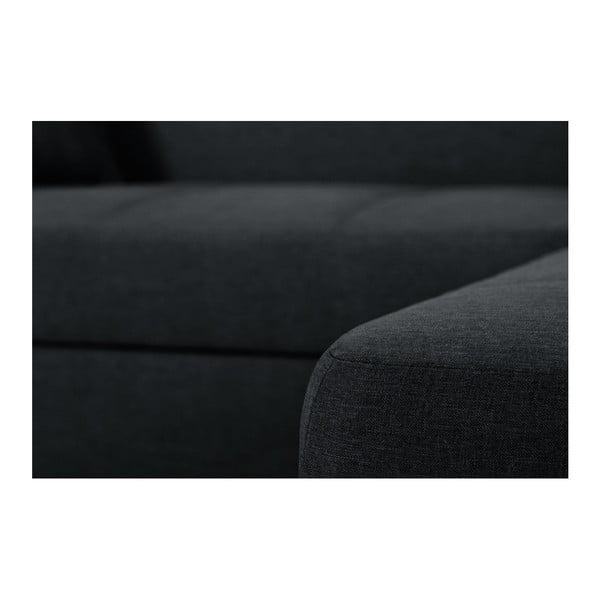 Bijou fekete kanapé, jobb oldalas - Interieur De Famille Paris