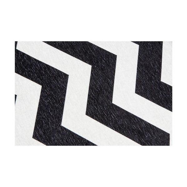 Optical Black White rendkívül ellenálló konyhai futószőnyeg, 80 x 130 cm - Webtappeti